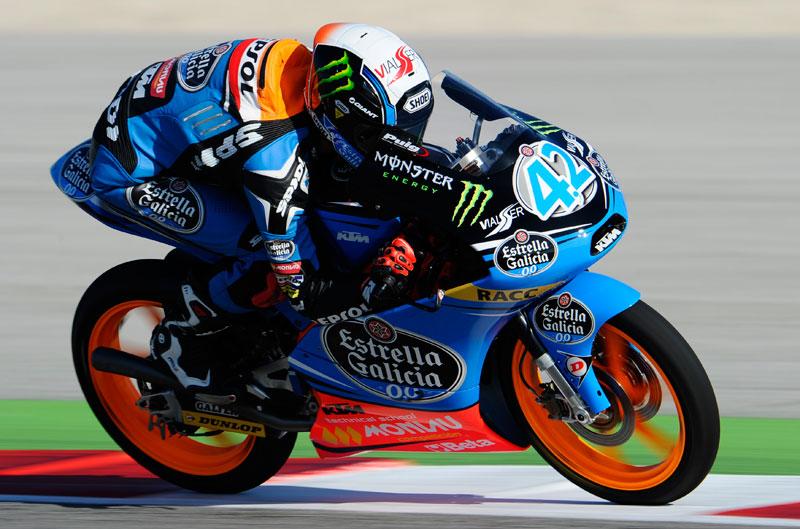 Alex Rins termina el primer día con el mejor tiempo de Moto3