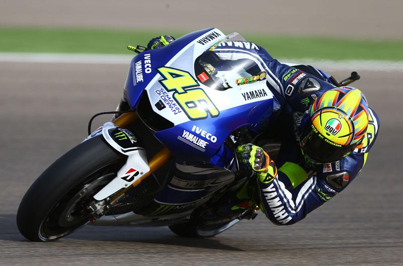 Valentino Rossi termina el FP3 con el mejor tiempo