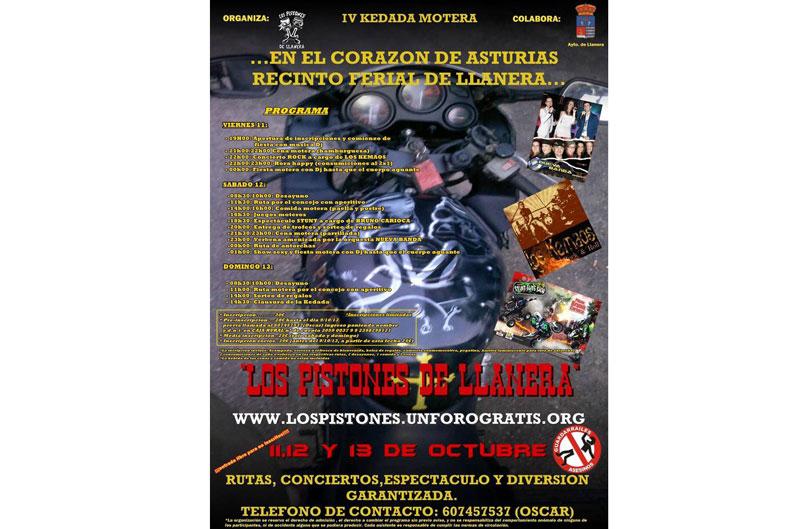 """IV Kedada Motera """"Los Pistones de Llanera"""""""