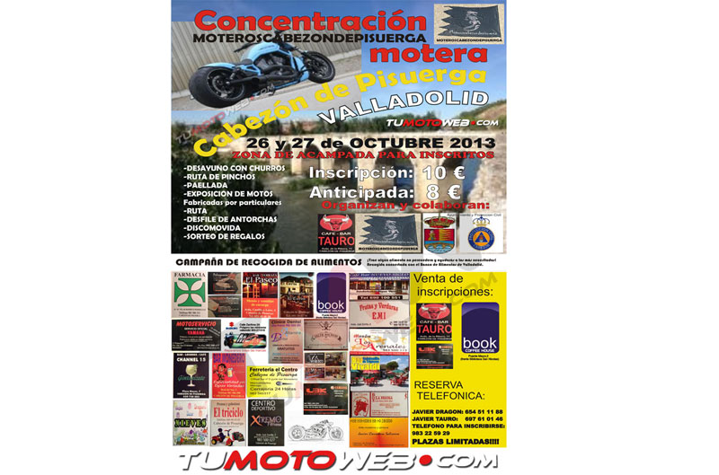 Concentración Motera Cabezón de Pisuerga 2013