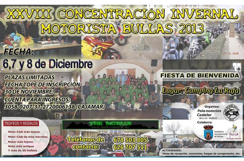 XXVIII Concentración Motorista Invernal Bullas 2013
