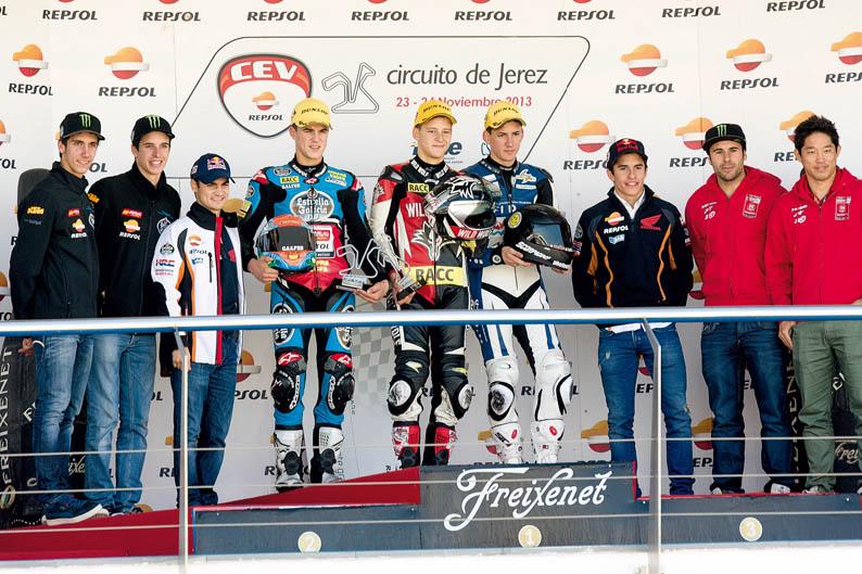 Declaraciones de los pilotos del CEV tras la prueba de Jerez