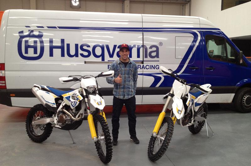 Husqvarna desembarca en el Nacional de Motocross