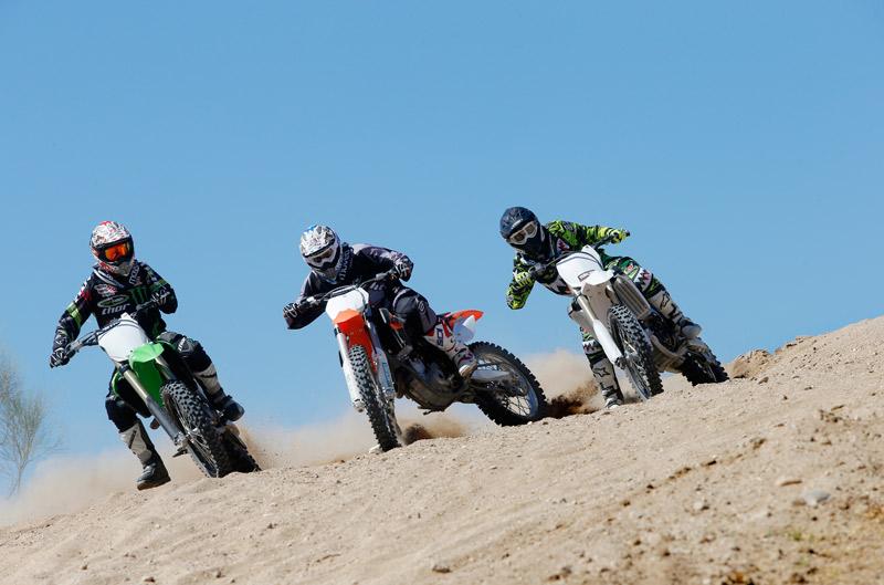 Comparativa MX1: Kawasaki, KTM y Yamaha