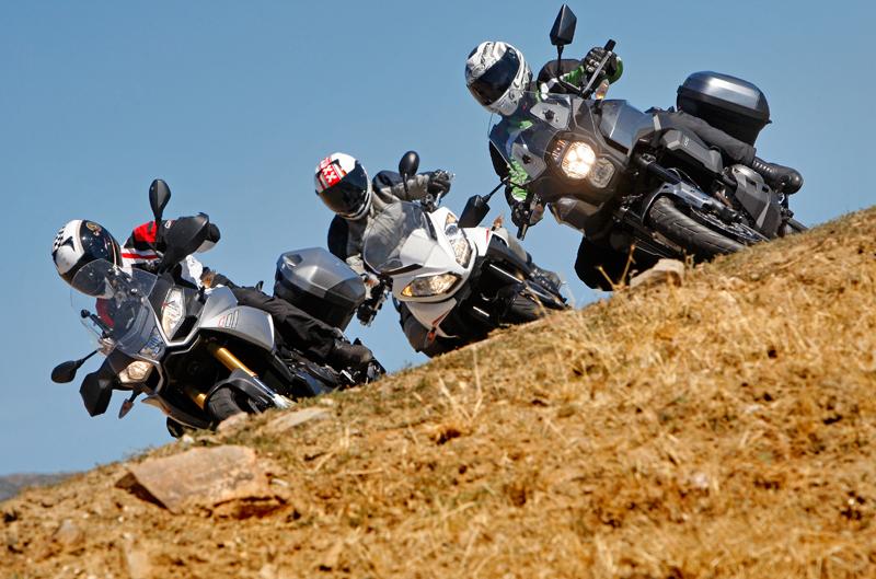 Comparativa trail: Aprilia, Kawasaki y Triumph