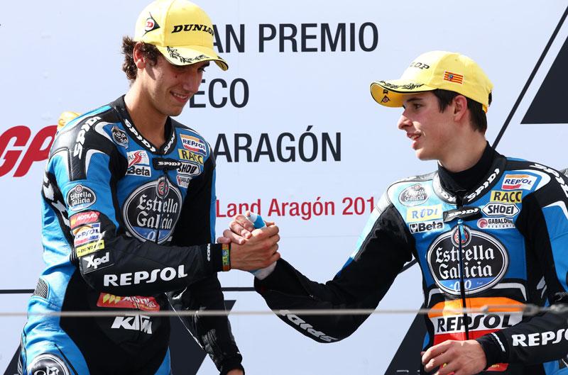 Álex Rins y Álex Márquez repasan la temporada 2013