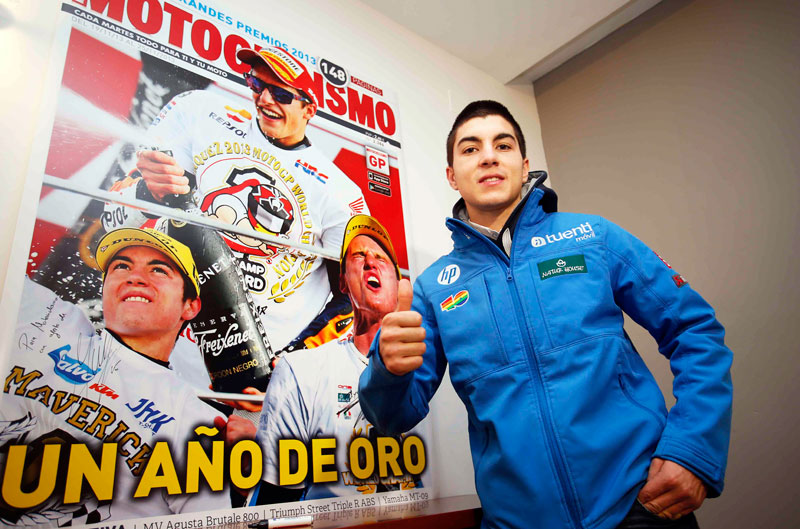 Maverick Viñales visita la redacción de Motociclismo