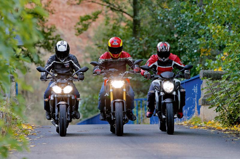 Comparativa MV Augusta brutale 800, Triumph Street Triple R ABS y Yamaha MT-09