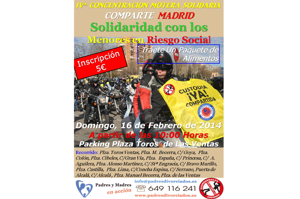 IV Concentración motera solidaria Comparte Madrid