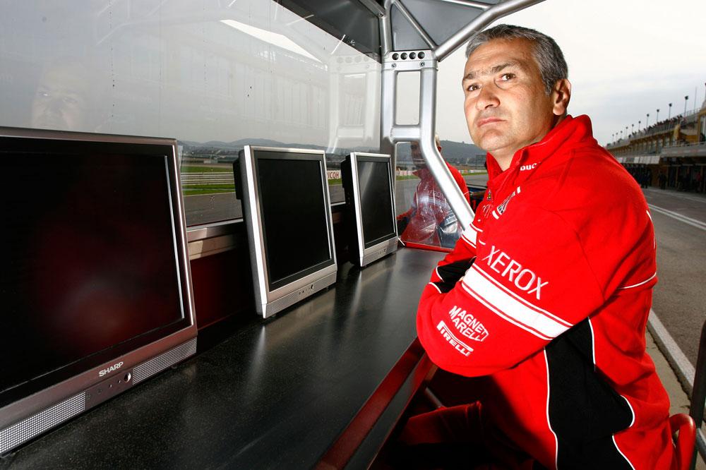 Davide Tardozzi, con Ducati en MotoGP