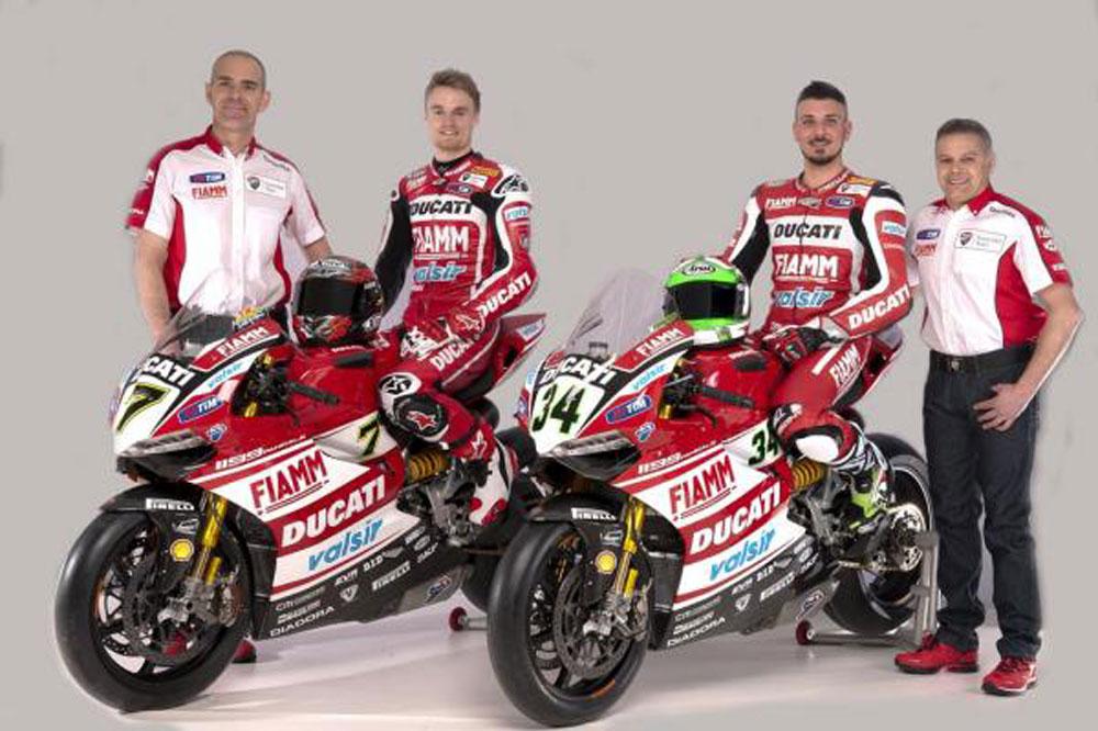 Ducati presenta su equipo oficial del Mundial de SBK