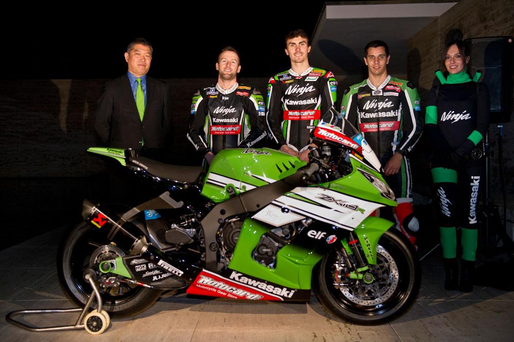Se presenta el equipo Kawasaki de SBK
