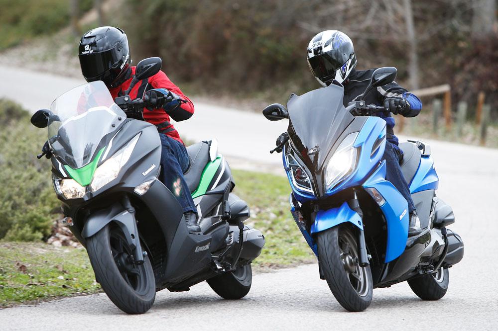 Comparativa Scooter: Kawasaki J300 ABS y Kymco K-XCT 300