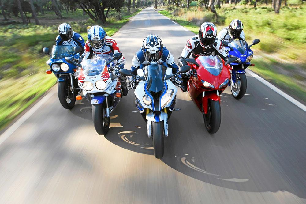 Comparativa Deportivas 30 Años: Suzuki, Honda, Yamaha, Ducati y BMW