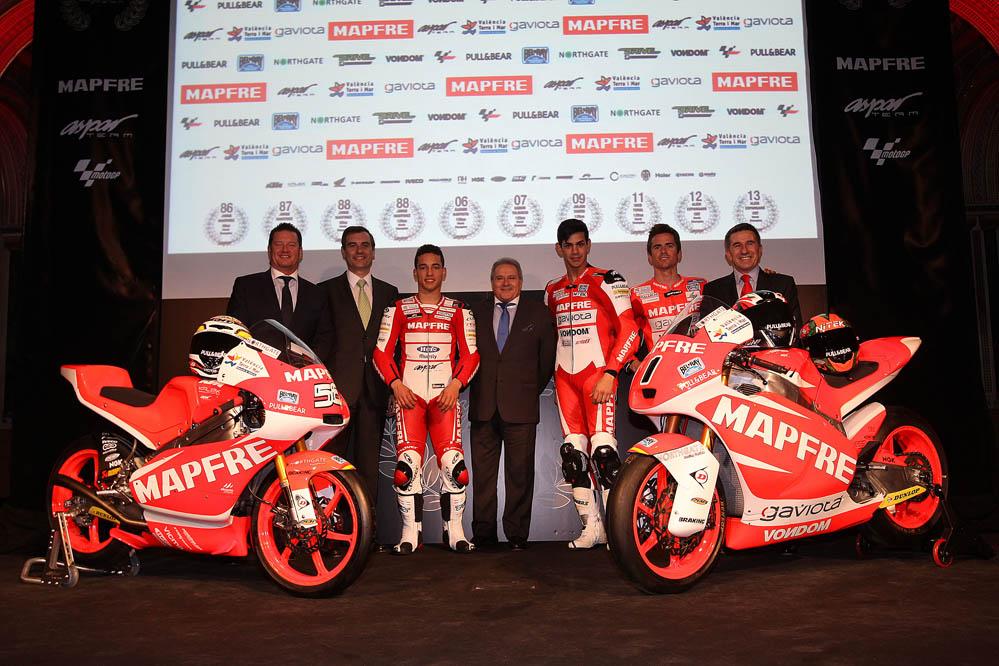 Valencia acoge la presentación del Mapfre Aspar Team