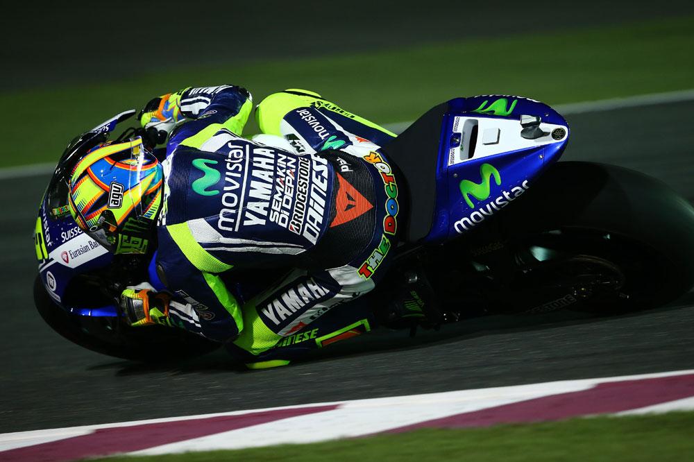 Entrevista a Valentino Rossi tras los cronometrados en Qatar