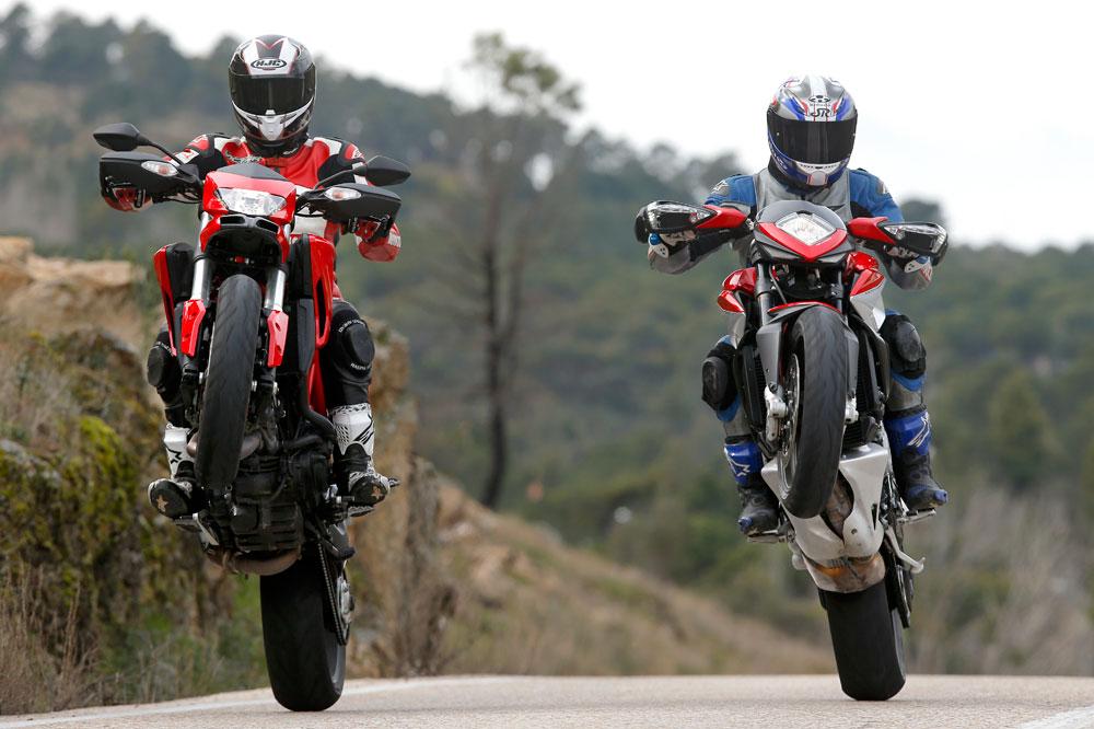 Comparativa Supermotard: Ducati Hypermotard y MV Agusta Rivale 800