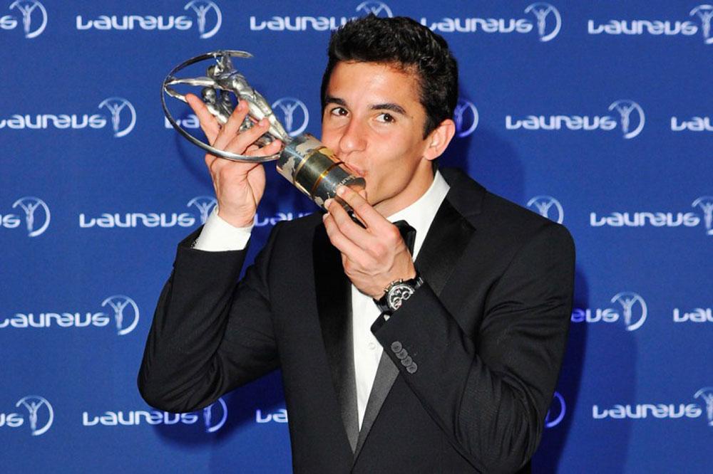 Marc Márquez triunfa en los premios Laureus
