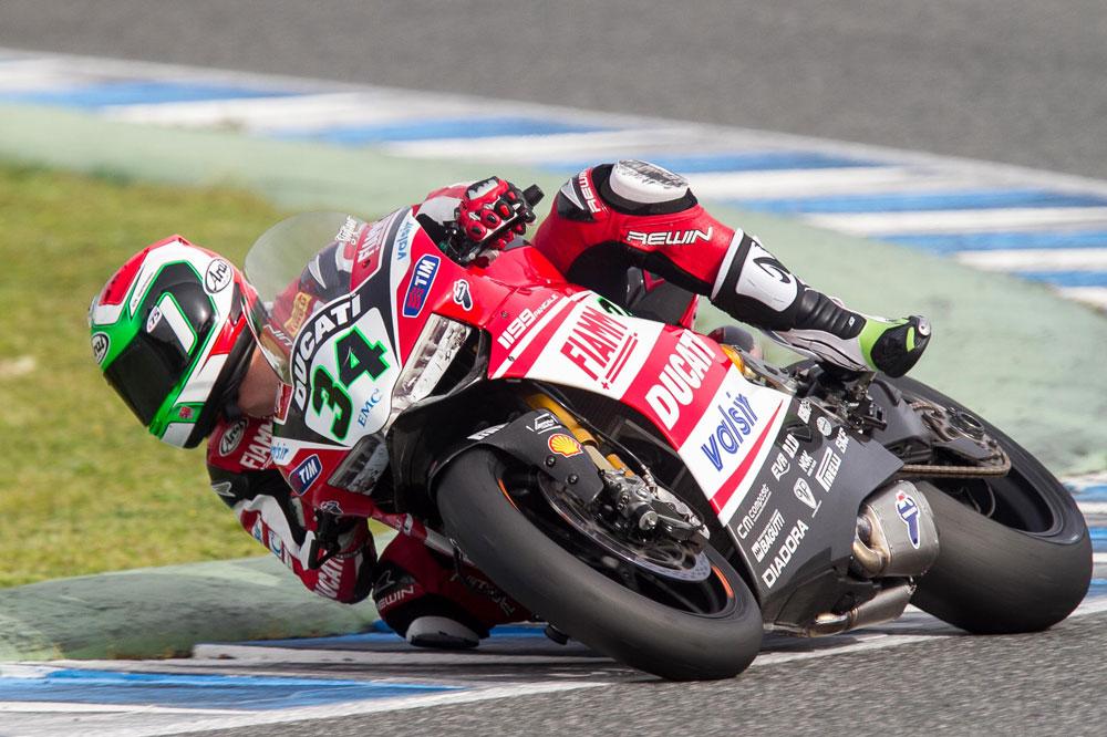 Davide Giugliano continúa al frente en la segunda jornada de test en Jerez