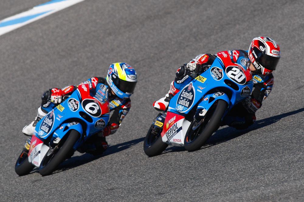 Fabio Quartararo y María Herrera se reparten las victorias en Moto3