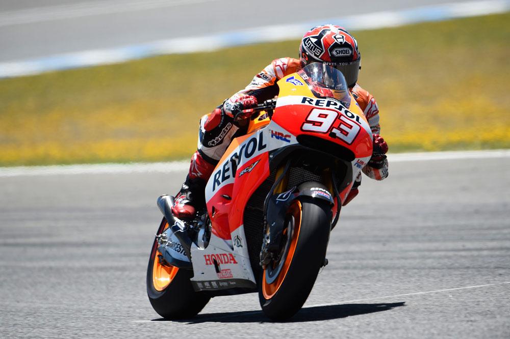 Marc Márquez lidera los primeros libres de MotoGP
