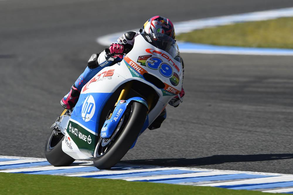 Luis Salom controla el FP2 de Moto2