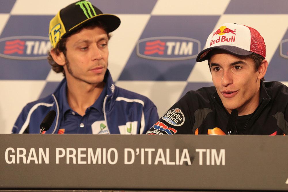 Márquez, Rossi, Lorenzo y Pedrosa hablan antes del Gran Premio de Italia