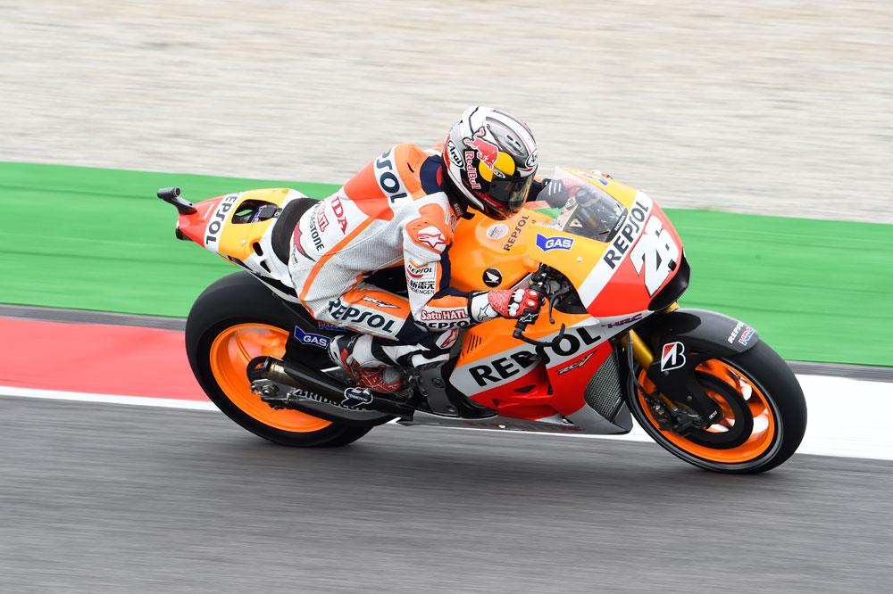 Dani Pedrosa marca el ritmo en los terceros libres