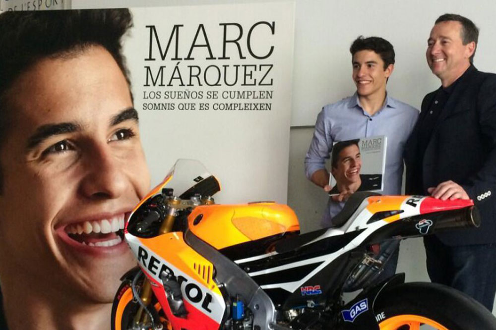 Marc Márquez presenta su biografía oficial