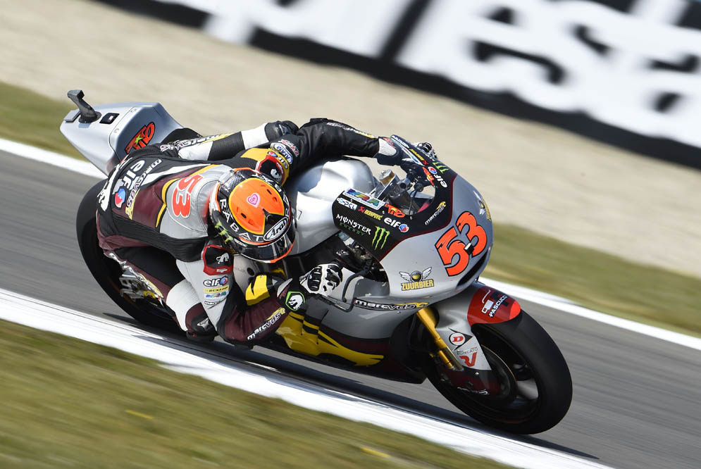 Tito Rabat arrancará primero en Moto2