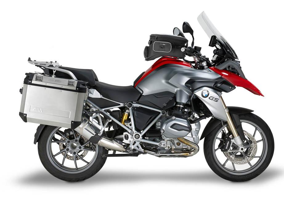 bmw r1200gs con givi para la moto. Black Bedroom Furniture Sets. Home Design Ideas