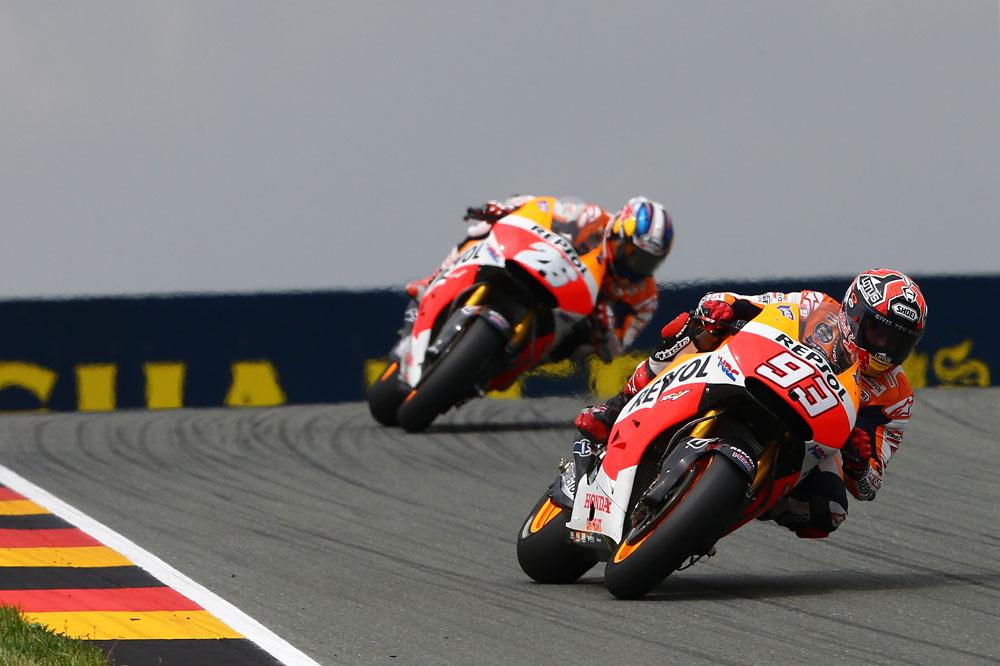 Márquez suma la novena en Sachsenring