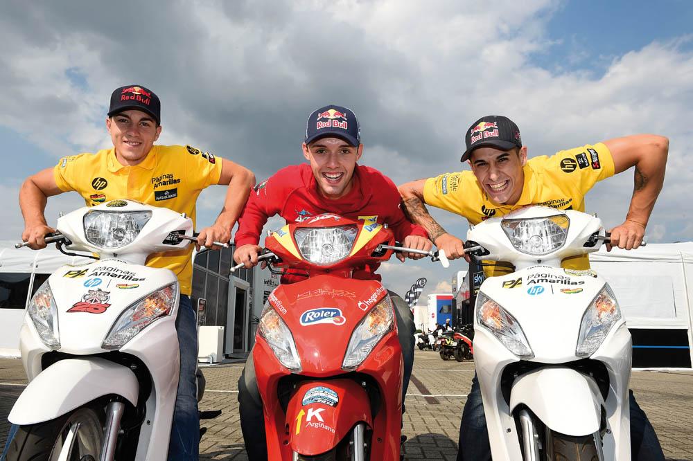 Viñales, Folger y Salom, los novatos voladores de Moto2