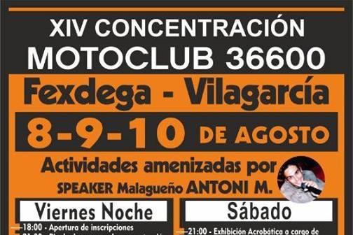XIV Concentración verano Motoclub 36600
