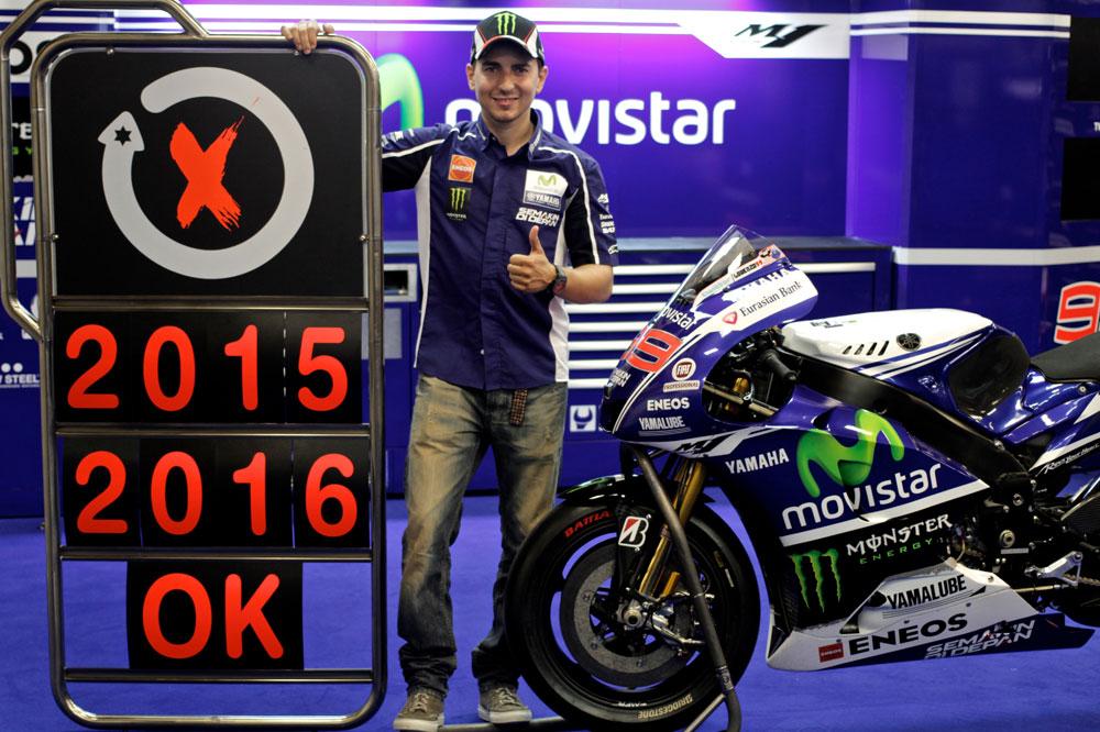Jorge Lorenzo y Yamaha renuevan por dos años
