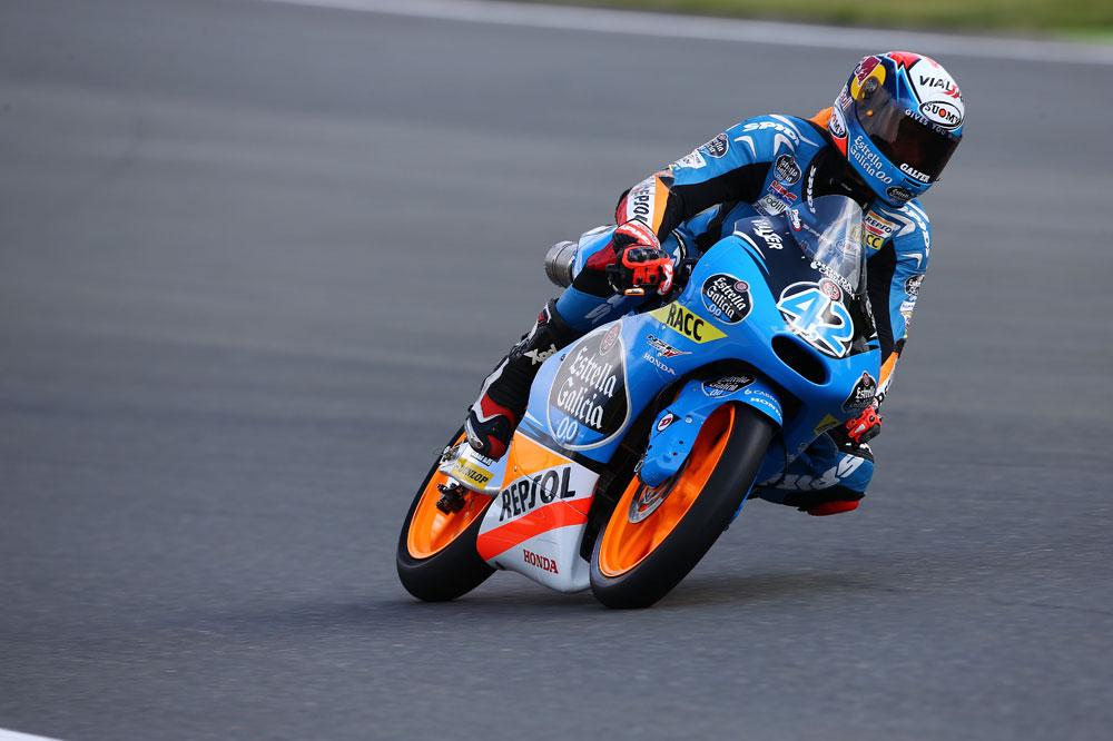 Alex Rins controla el FP3 de Moto3