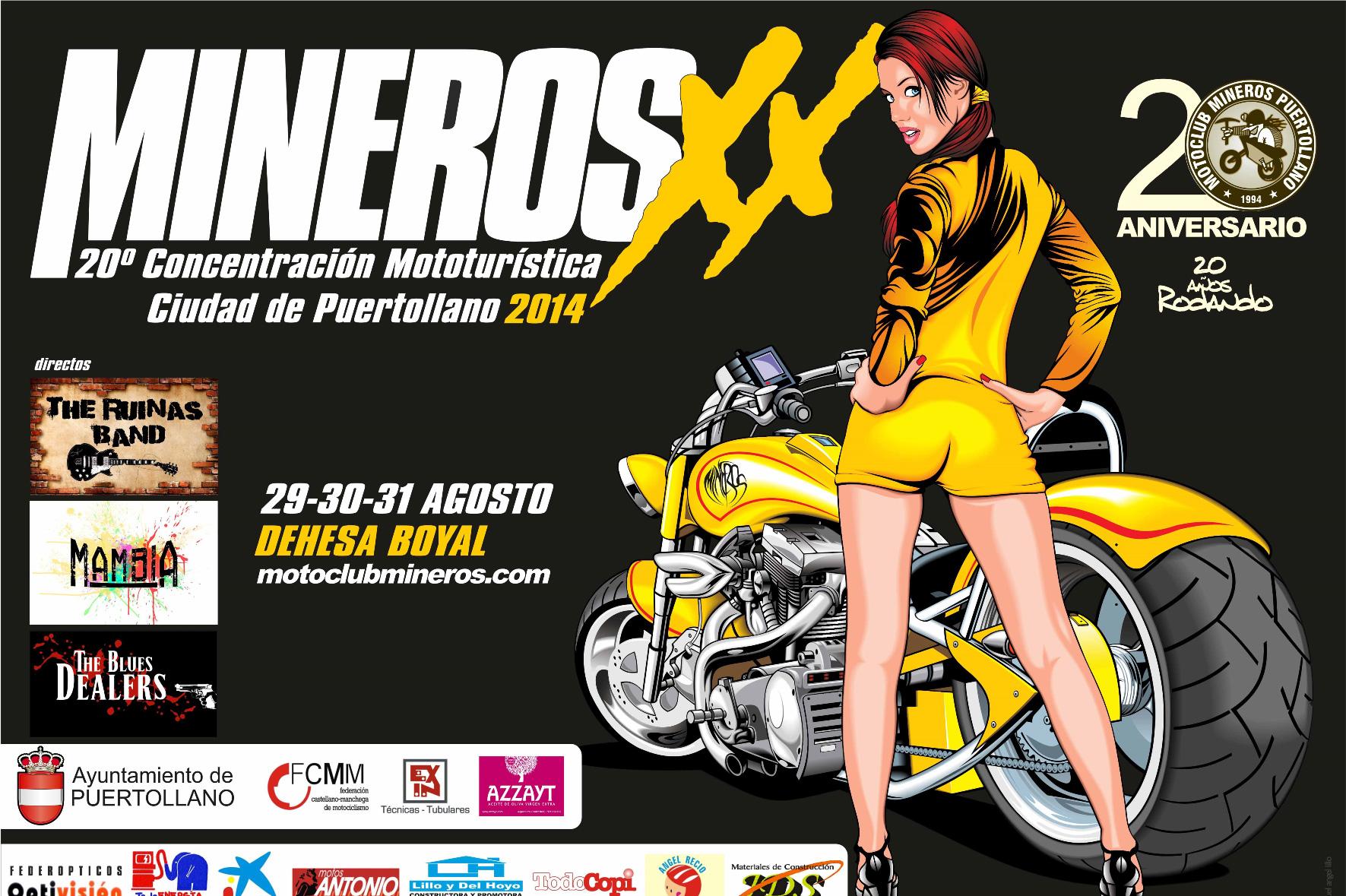 XX Concentración Mototurística Mineros 2014