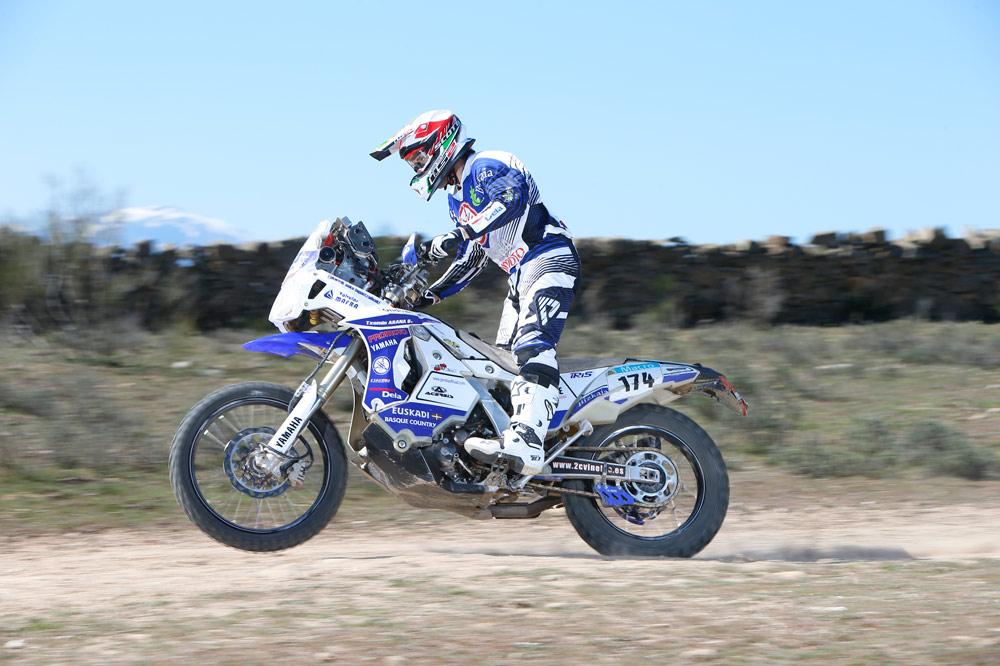 Prueba de la Yamaha WRF 450 Dakar del equipo GOR