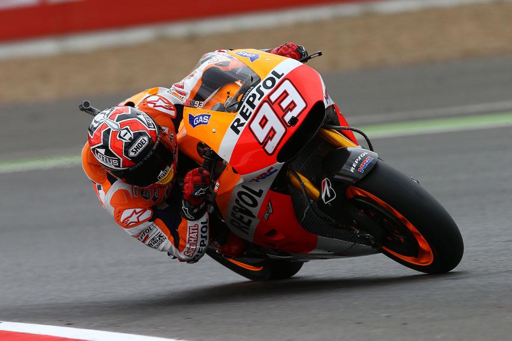 Márquez continúa al frente en Silverstone