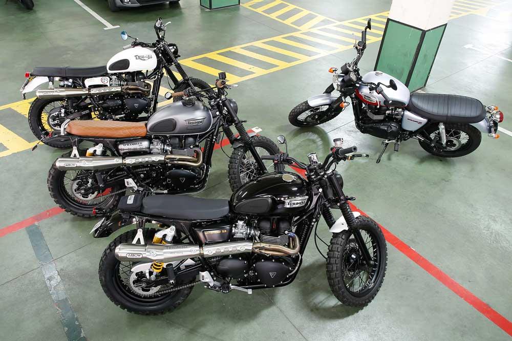 Las motos, en el garaje