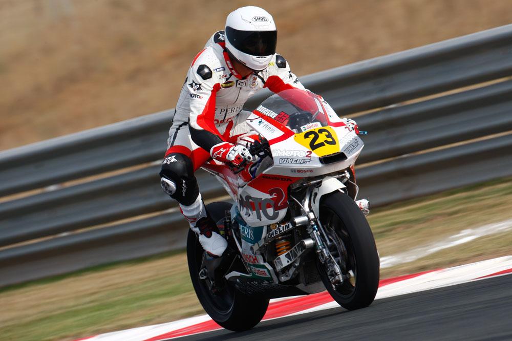 Adrián Bonastre y La Moto2 finalizan 22º y 23º en Navarra