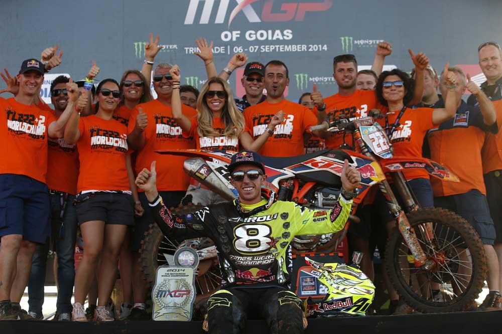 Antonio Cairoli logra su octavo título mundial de Motocross