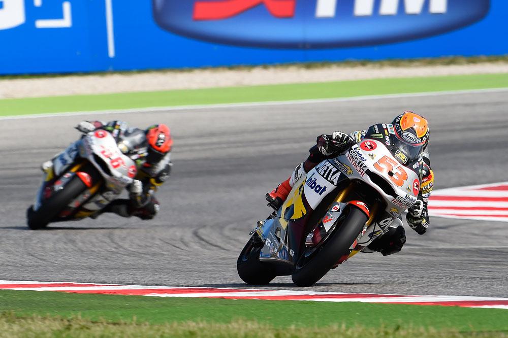 Rins y Rabat doblegan a Márquez y Kallio