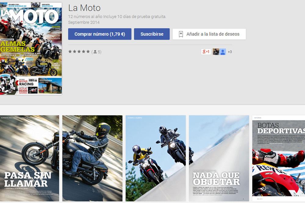 La Moto, en el Kiosco de Google Play Store