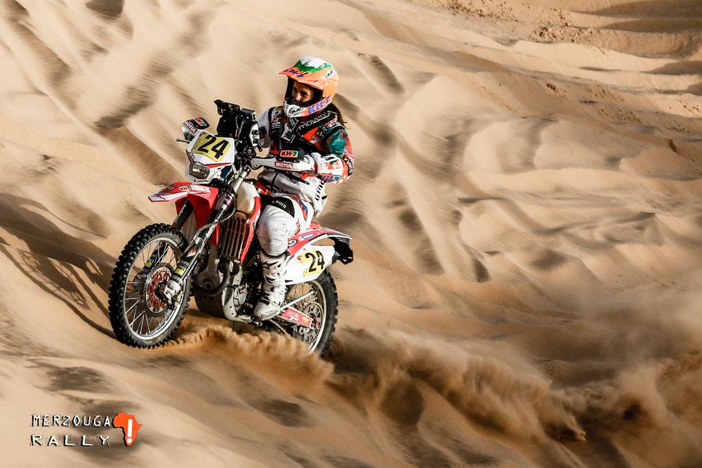 Laia Sanz gana la etapa prólogo en el Merzouga Rally