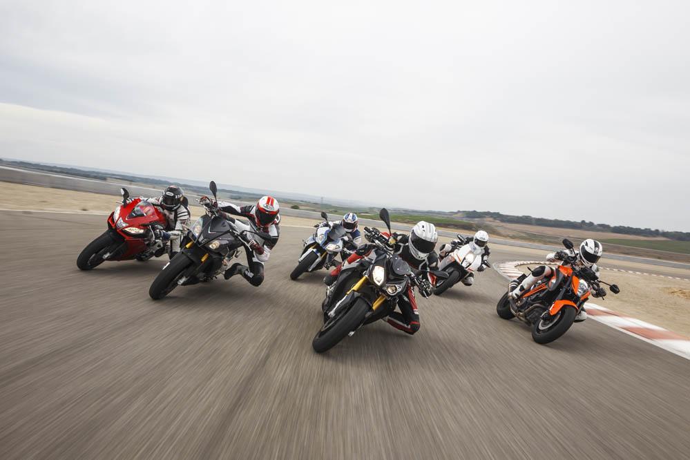 Comparativa deportivas y naked 1000: Aprilia, BMW, KTM