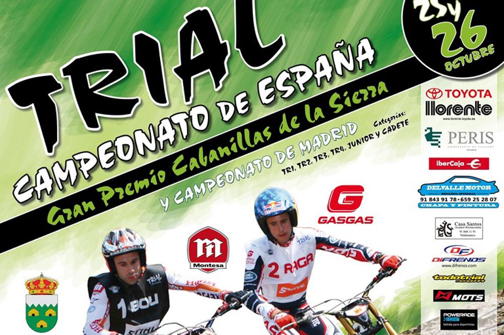 Cabanillas de la Sierra acoge la penúltima prueba del Campeonato Nacional de Trial