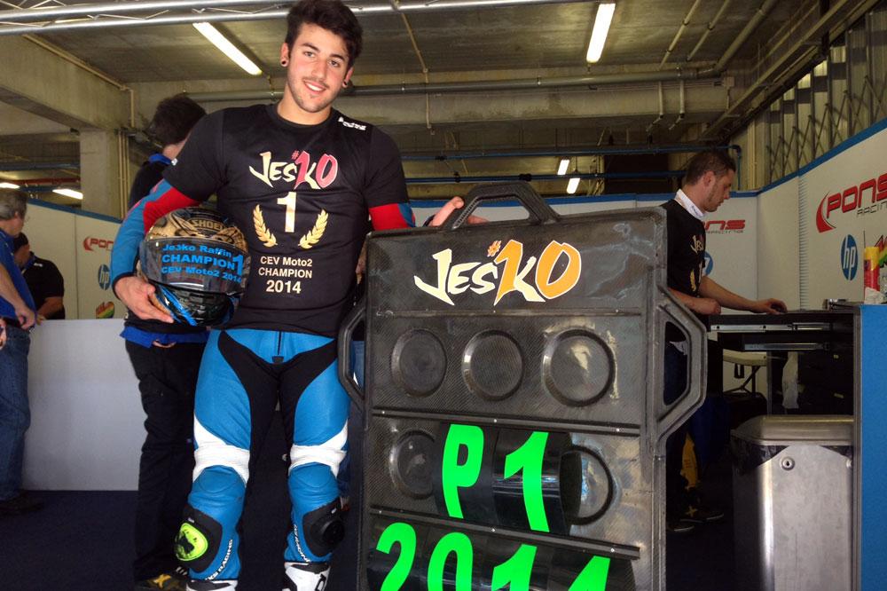 Jesko Raffin campeón del CEV Moto2
