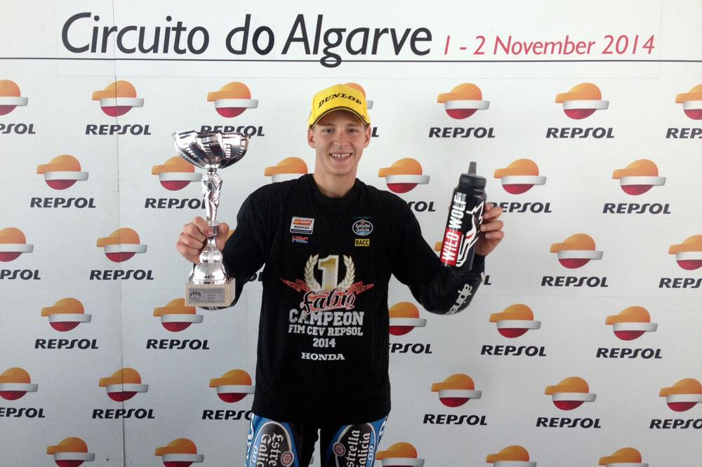 Fabio Quartararo bicampeón del CEV de Moto3