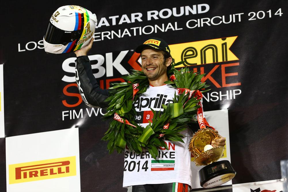 Sylvain Guintoli, campeón del mundo de Superbike